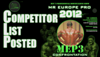 2012 IFBB Mr. Europe Pro Contest List Posted 10Apr12