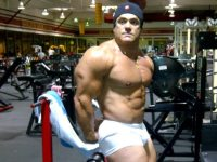 Gustavo Badell pic in the gym @ 258 pounds, January 16