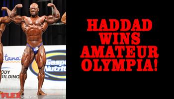FLASH REPORT: SAMI AL HADDAD WINS AMATEUR OLYMPIA!