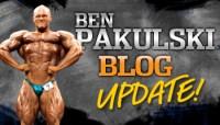 Ben Pakulski blog update!