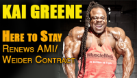 Kai Greene renews exclusive contract with Weider/AMI