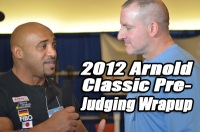 Dennis James and Chad Nicholls Wrap Up the Men Bodybuilding Pre-Judging