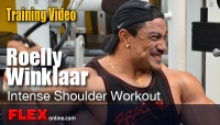 Roelly Winklaar Shoulder Workout Weeks from Tampa Pro