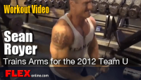 Sean Royer trains for the NPC Team Universe