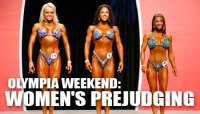 2008 OLYMPIA WEEKEND: WOMEN'S PREJUDGING