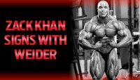 KHAN SIGNS WITH WEIDER