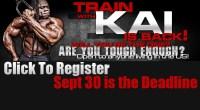 Announcement: Train with Kai Greene 2012