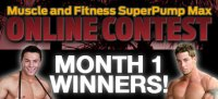 Month 1 Muscle & Fitness SuperPump Max Online Contest Winners!
