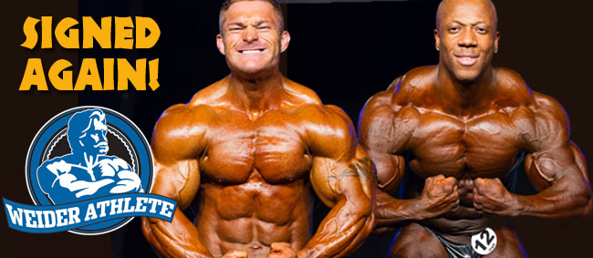 Rhoden and Lewis Renew Their Weider/AMI Contracts