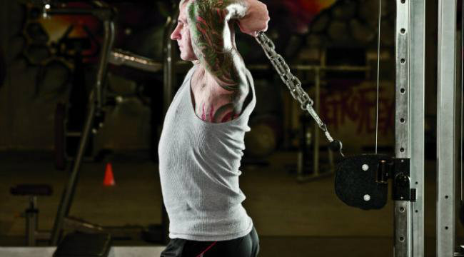 cable rope overhead triceps extension muscles worked
