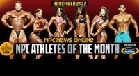 NPC and Gaspari Announce Nov 2012 Athletes of the Month