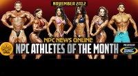 NPC and Gaspari Announce Nov 2012 Athletes of the Month