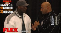 Darrem Charles before the 2013 Arnold Classic