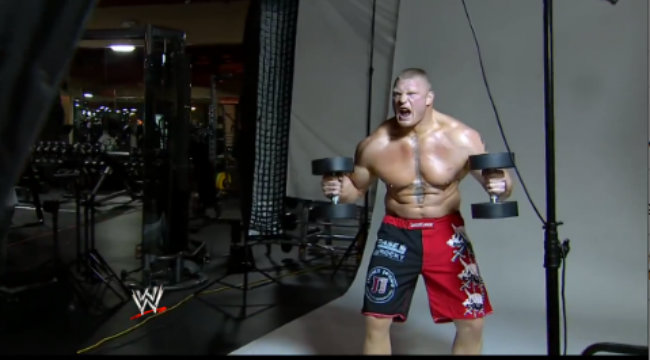 Brock Lesnar Behind-the-Scenes Photo Shoot: [VIDEO ...