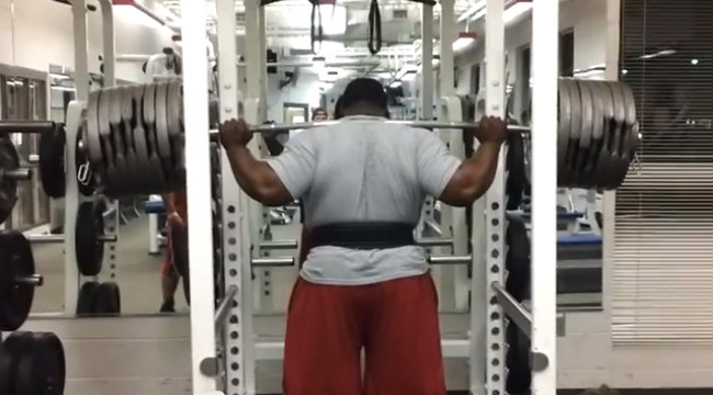 Ray Williams Goes for Squat Record