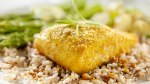 salmon filet with brown rice