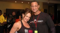 Terry Placker and IFBB Pro Jenny Worth at the NPC Jr.Nationals
