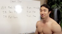 Mike Chang presenting ripped at home chest workout routine