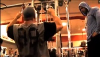 Fouad Abiad, Frank McGrath and Heavy D Crank Out a Back Workout