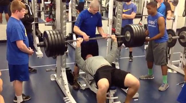 High School Football Prospect Impresses in Gym