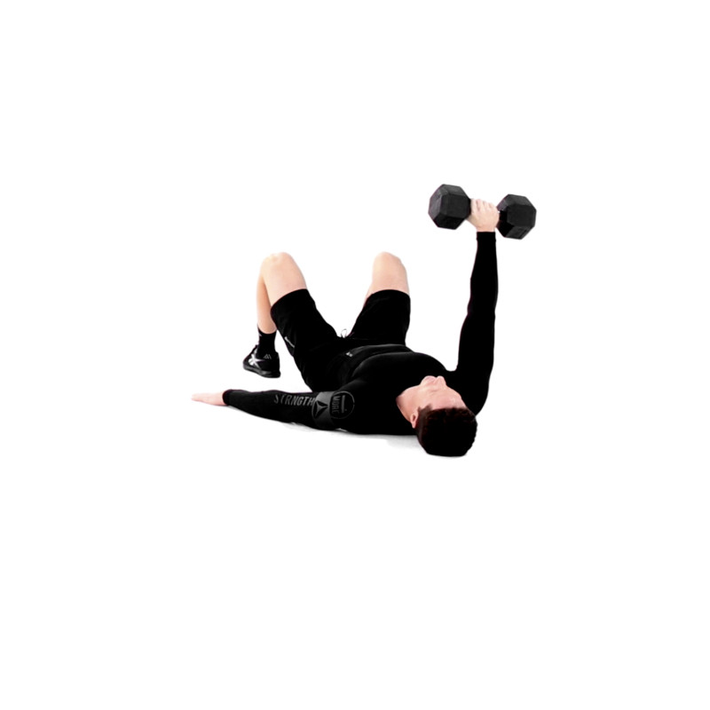One-Arm Floor Press Exercise Video