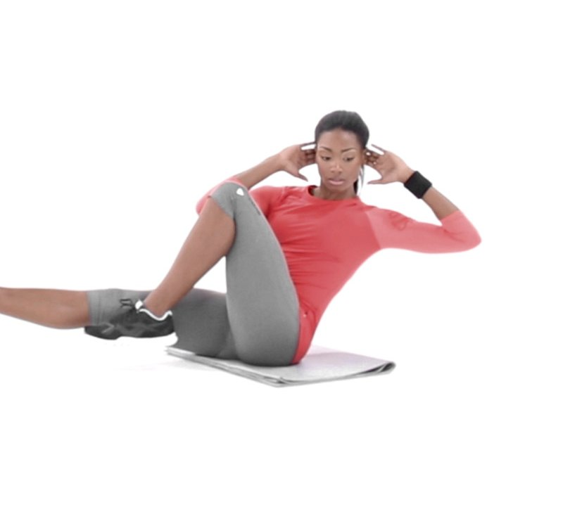 Seated Bicycle Twist