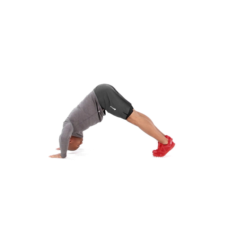 Floor Inverted Shoulder Press Exercise Video Guide Muscle Fitness