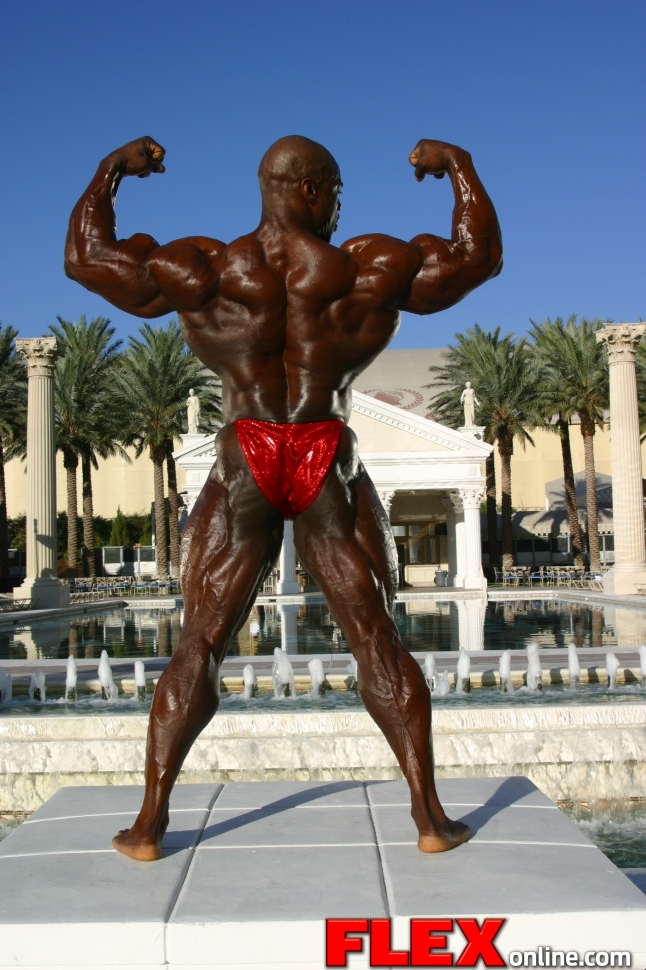 OLYMPIA 8X10 SPORTS ACTION PHOTO RONNIE COLEMAN BODY BUILDING MR QQ