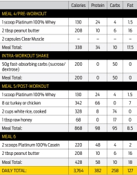 Meal plan training day 4-6