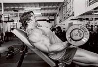 Arnold Schwarzenegger arms workout