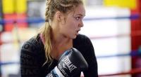 Ronda Rousey Working the Pads