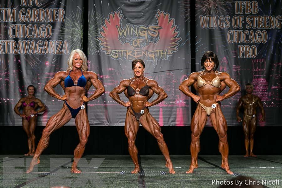 2014 Chicago Pro Women Bodybuilding Comparisons