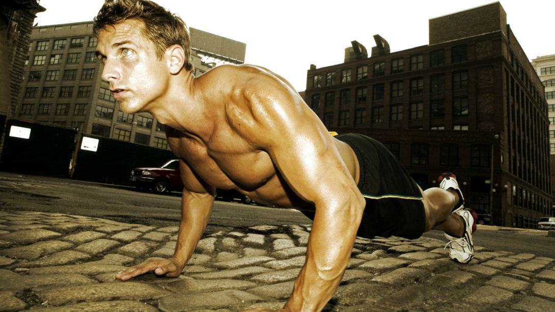 pushup outdoors