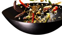 wok with steak and vegetables