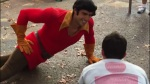 gaston disney world pushup challenge