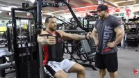 60 Seconds with Flex Lewis: Seated Pec Flyes