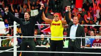 Hulk Hogan, Arnold Schwarzenegger at Wrestlemania