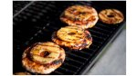 pineapple turkey burgers on the grill