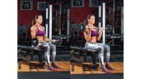 Dany Garcia doing seated barbell curl