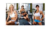 three women showing three levels of workouts