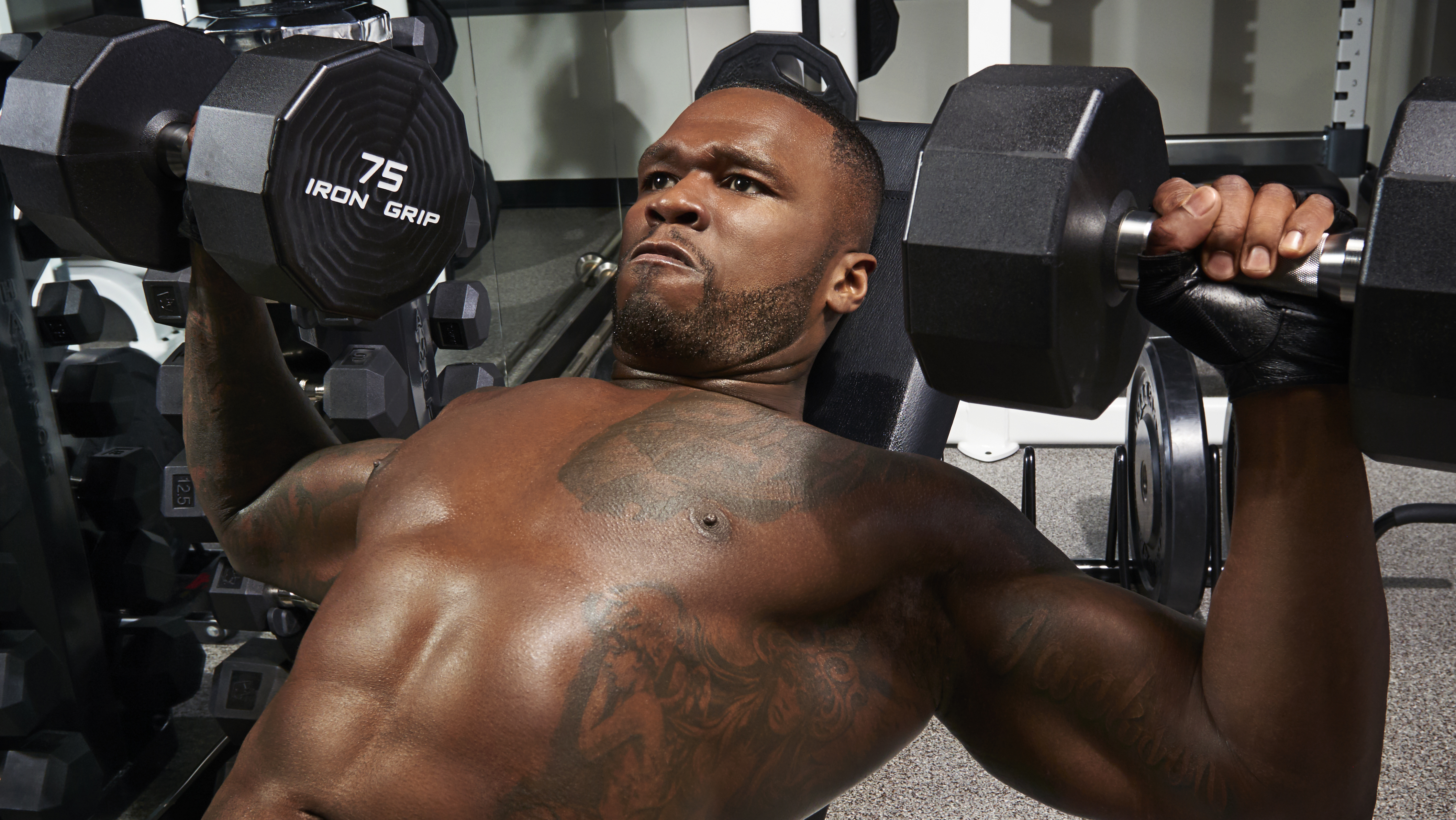 Never Gonna Stop 50 Cent Is In For The Long Haul Muscle Fitness