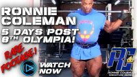 Rare Footage of Ronnie Coleman Lifting