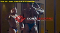 Backstage at the 2015 IFBB Korea Grand Prix