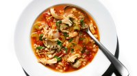 Protein Rich: Roast Chicken And Barley Soup