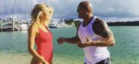 The Rock Welcomes Kelly Rohrbach to the Baywatch Cast