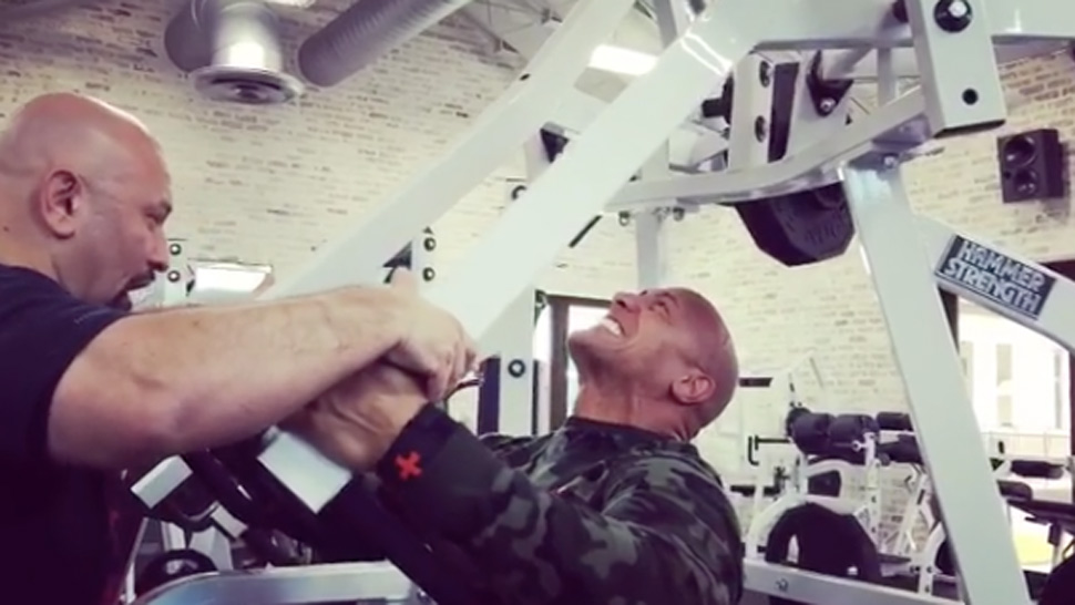 The Rock Trains With Legendary Bodybuilding Coach