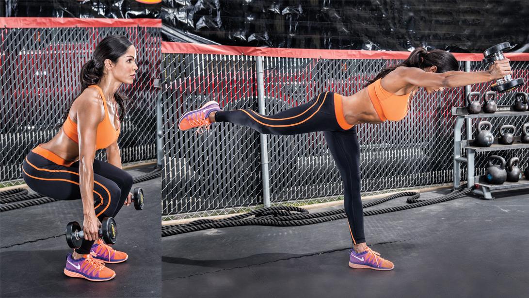 db squat and reach