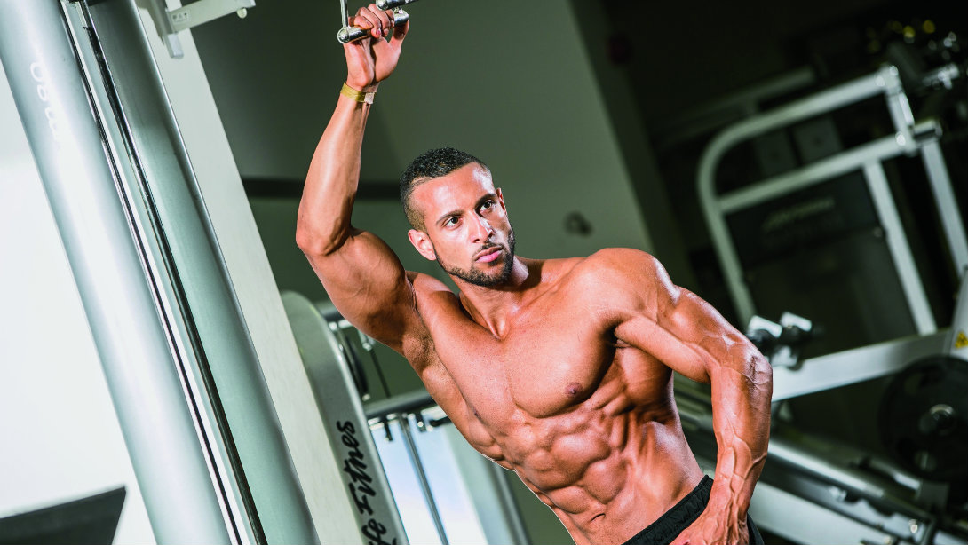 A bodybuilder on the Go.