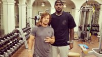 Mark Wahlberg Works Out with LeBron James