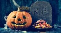 Jack-o-Lantern and Halloween Candy